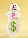 Weltbargeld Stockbild