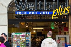 Weltbild store in Munich Stock Photography