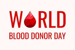 Weltblutspend-Tag - rotes Papier schnitt Blutstropfen Stockfoto