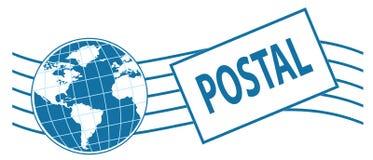 Weltbriefmarke Stockfoto
