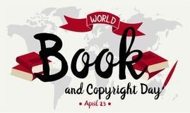 Weltbuch- und -copyrighttag Stockbild