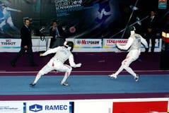 Weltcup 2010. Fechten. Yuki Ota Lizenzfreies Stockbild