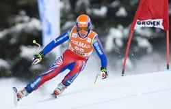 Weltcup des alpinen Skifahrens - abschüssiges Training Val Gardenas Lizenzfreie Stockfotos
