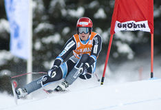 Weltcup des alpinen Skifahrens - abschüssiges Training Val Gardenas Lizenzfreie Stockfotografie
