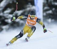 Weltcup des alpinen Skifahrens - abschüssiges Training Val Gardenas Stockbilder