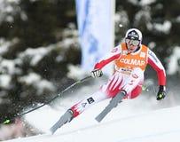 Weltcup des alpinen Skifahrens - abschüssiges Training Val Gardenas Lizenzfreie Stockbilder