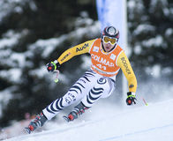 Weltcup des alpinen Skifahrens - abschüssiges Training Val Gardenas Stockfotos