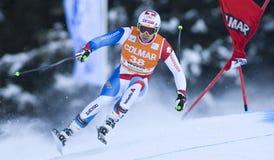 Weltcup des alpinen Skifahrens - abschüssiges Training Val Gardenas Stockfoto