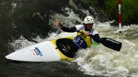 Weltcup des Kanu-Slalom-ICF, Daniel Watkins, Australien Stockfotos