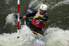 Weltcup des Kanu-Slalom-ICF, Stefanie Horn, Österreich Lizenzfreie Stockbilder