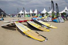 Weltcup-Drachen-Surfen Stockbild