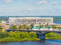 Weltcup FIFA-Stadion 2018 in Nischni Nowgorod stockfotos