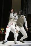 Weltcup-Folien-Männer 2009 - Kruse (GBR) Stockfotos