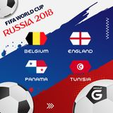 Weltcup-Fußball-Gruppen-Turnier 2018 ENV 10 Lizenzfreies Stockbild