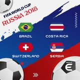 Weltcup-Fußball-Gruppen-Turnier 2018 ENV 10 lizenzfreie abbildung