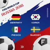Weltcup-Fußball-Gruppen-Turnier 2018 ENV 10 Stockbild