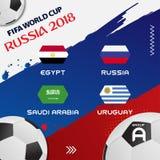 Weltcup-Fußball-Gruppen-Turnier 2018 ENV 10 Stockbilder