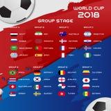 Weltcup-Fußball-Gruppen-Turnier 2018 ENV 10 Stockfotografie