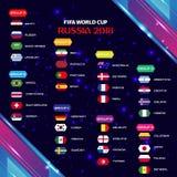 Weltcup-Fußball-Gruppen-Turnier 2018 ENV 10 Lizenzfreie Stockbilder
