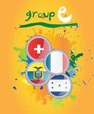 Weltcup-Gruppe E Stockbild