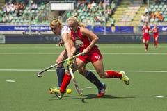 Weltcup-Hockey 2014 - die Niederlande - Argentinien Lizenzfreie Stockfotografie