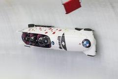 Weltcup Koenigssee 2016 Chris Springs BMW IBSF lizenzfreie stockbilder