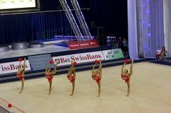 Weltcup rhythmische Gymnastik 2012 stockbilder