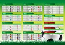 Weltcup-Südafrika-Zeitplan 2010 Stockbild