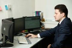 Weltcup von Zukunft-Handels-Meisterschaftssieger 2016 von Russland Artur Teregulov am Arbeitsplatz Stockbilder