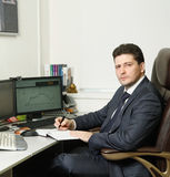 Weltcup von Zukunft-Handels-Meisterschaftssieger 2016 von Russland Artur Teregulov am Arbeitsplatz Lizenzfreie Stockfotos