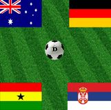 Weltcupfußball der Gruppe D Stockfotos