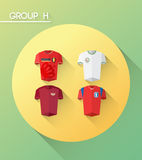 Weltcupgruppe h mit Trikots Stockfoto