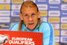 Weltcupqualifizieren: Ukraine V Kroatien in Kiew Vor-Match lizenzfreies stockfoto