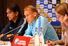 Weltcupqualifizieren: Ukraine V Kroatien in Kiew Vor-Match stockfoto
