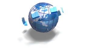 Weltdatenumspeicherung lizenzfreie abbildung