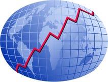 Weltdiagramm Stockfotografie