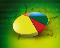 Weltdiagrammgeschäft weltweit grünen Stockfotos