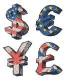Weltdollarzeichen stock abbildung
