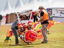 Weltdrachen-Festival 2018 Pasir Gudang Stockfotografie