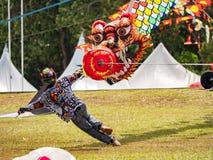 Weltdrachen-Festival 2018 Pasir Gudang Lizenzfreie Stockfotos