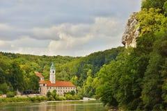 Weltenburg abbotskloster Arkivbilder