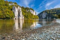 Weltenburg-Bayern-Donau-Fluss lizenzfreie stockfotos