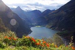Welterbe - Geirangerfjord Stockfotografie