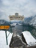 Welterbeblick, opinião do patrimônio mundial do UNESCO imagens de stock