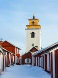 Welterbkirchenstadt in Schweden Lizenzfreies Stockbild