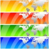 Weltfahnen Lizenzfreies Stockbild