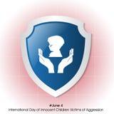 Weltfahrrad DayInternational-Tag von unschuldigen Kinderopfern des Angriffs Stockbild