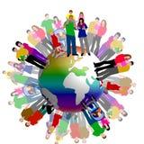 Weltfamilien-Abbildung Lizenzfreie Stockbilder