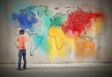 Weltfarbe stockfotos