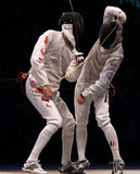 Weltfechtenmeisterschaft 2006; Joppich-Leu Sheng Stockfotografie